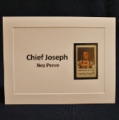 Chief Joseph Stamp Notecard