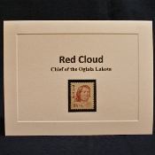 Red Cloud Stamp Notecard