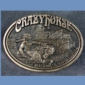 Crazy Horse Brass Belt Buckle