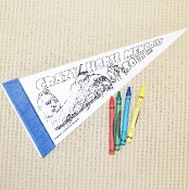 Color Me Pennant with Crayons