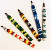 Beaded Pen Cover, by Verine Black Elk, Lakota