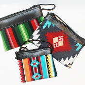 Cloth and Vinyl Purse by Victoria and Jerry Samuel, Navajo