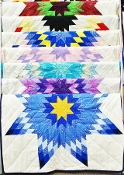 Baby or Lap Star Quilt by Delilah McPherson, Lakota