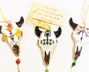 Buffalo Skull Ornament, by Lorri Ann Two Bulls, Lakota